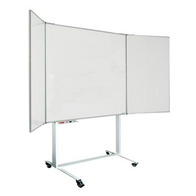 Mobile Folding Wing Confidential Whiteboard