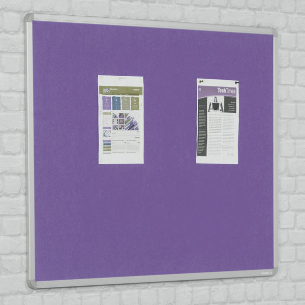 Fire Rated Felt Notice Boards 7 Bright Colours With