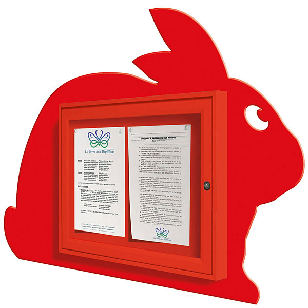 bunny rabbit external notice board