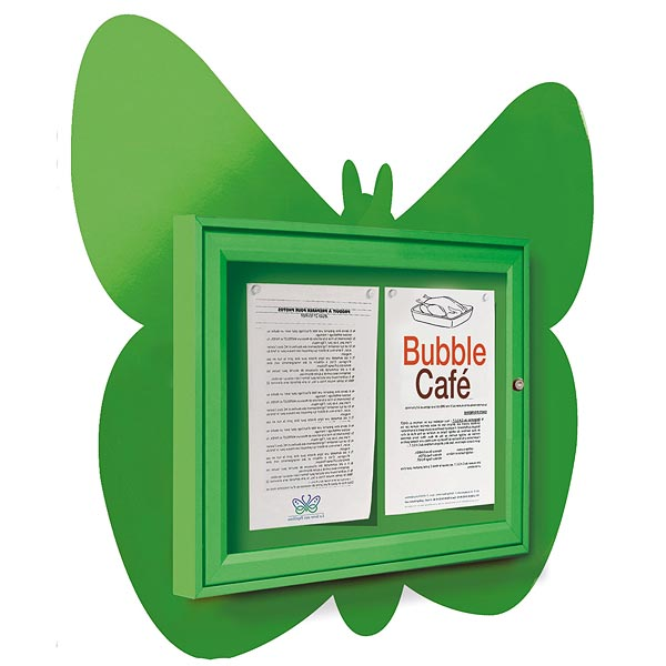 butterfly shape external notice board
