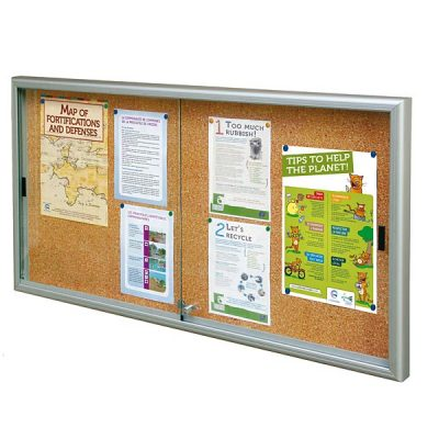 Large Sliding Glass Door Cork Notice Boards