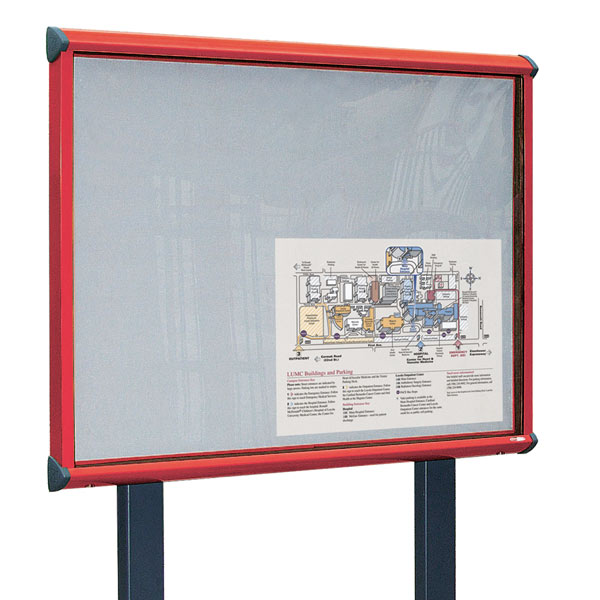 colour frame post mounted external notice board