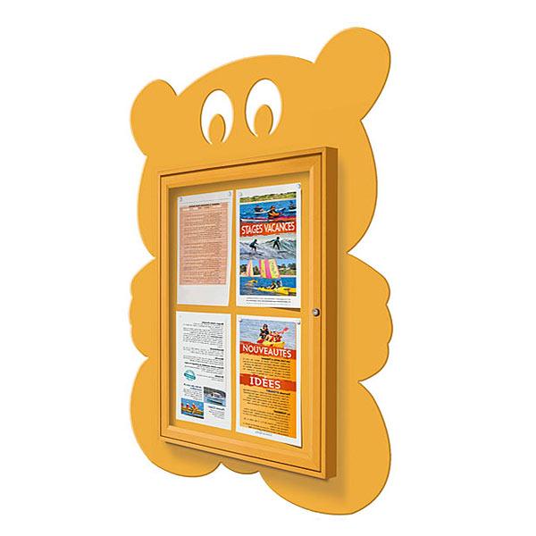 teddy bear external notice board