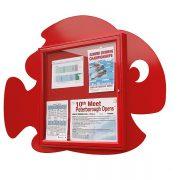 fish shape external notice board