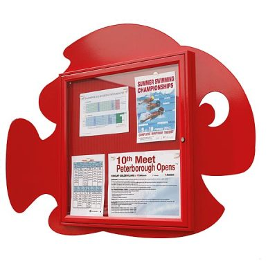 fish shape external notice board