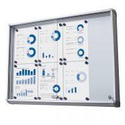 magnetic glass sliding door notice board