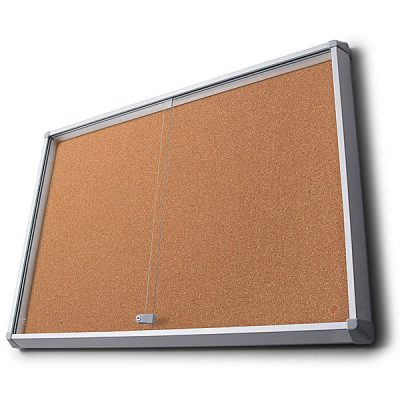 sliding glass door cork notice board