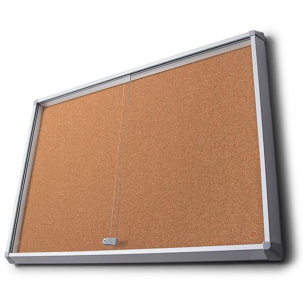 sliding glass door cork notice board
