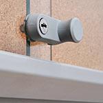 sliding glass door cork notice board lock detail