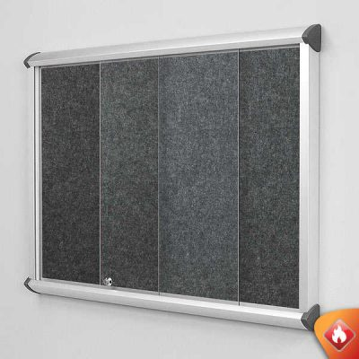 sliding glass door notice boards fire resistant and fire rated