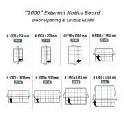 2000 Exterior notice board A4 Layout guide