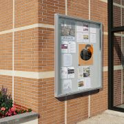 wall mounted extra large external notice board