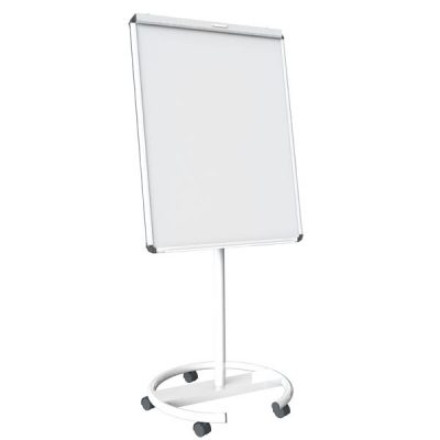 Mobile Round Base Magnetic Flip Chart Easel with Side Bars