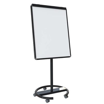 curved base magnetic mobile flip chart easel