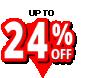 24 percent off