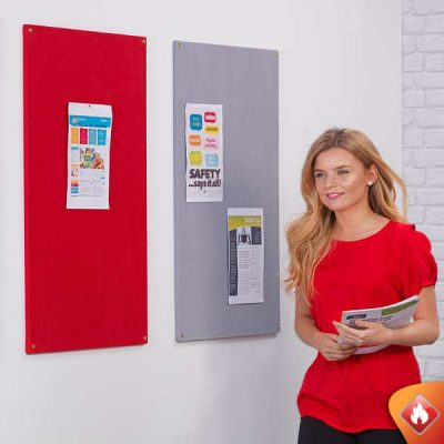fire retardant unframed notice boards