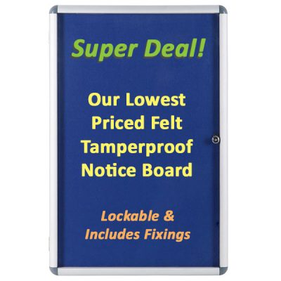 Internal Lockable Notice Boards Aluminium Framed