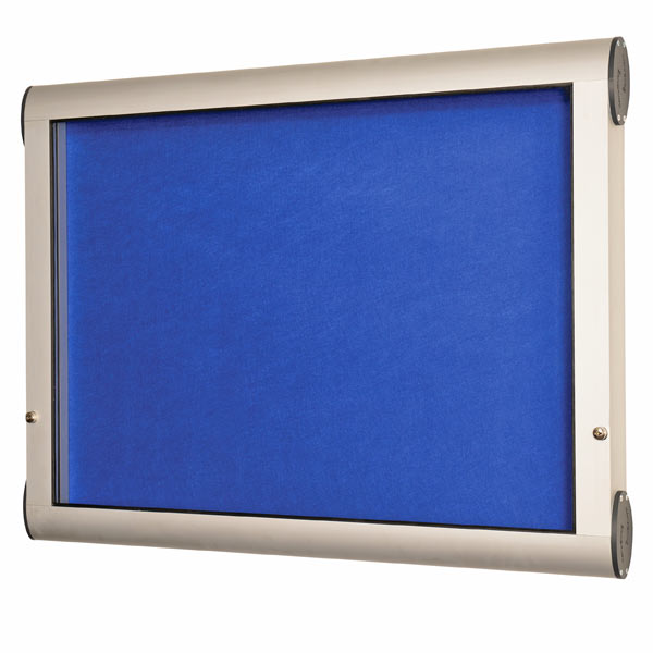 Internal lockable felt notice board