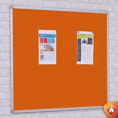 fire rated felt notice boards in 7 felt colours with aluminium frame