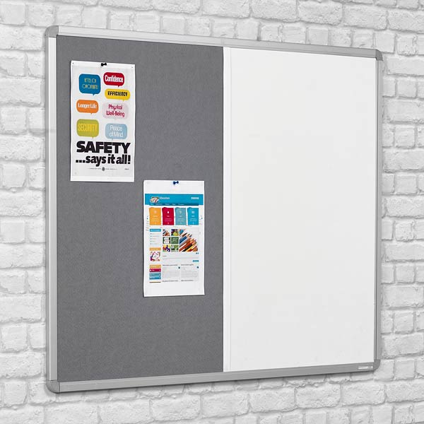 combination notice board whiteboard