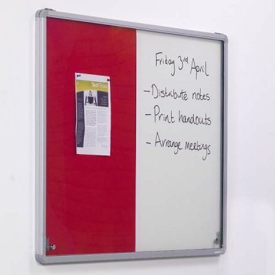 Combination tamperproof notice board