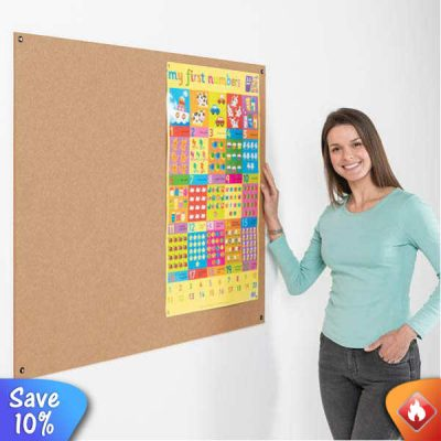 Eco friendly fire resistant unframed notice boards in different sizes and colours