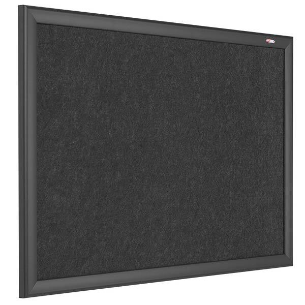 Black Felt Notice Board
