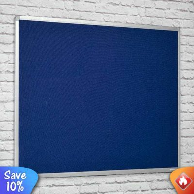 fire resistant notice boards in 4 felt colours with aluminium frame