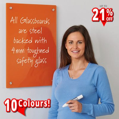 magnetic coloured glass dry wipe boards