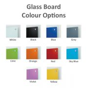 Magnetic dry wipe board colour options