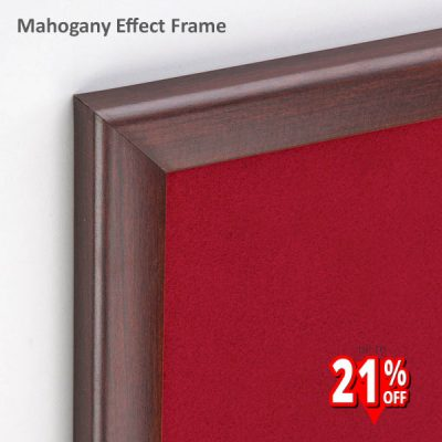 Mahogany Wood Effect Framed Notice Board