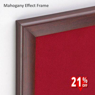 Mahogany Wood Effect Framed Notice Board