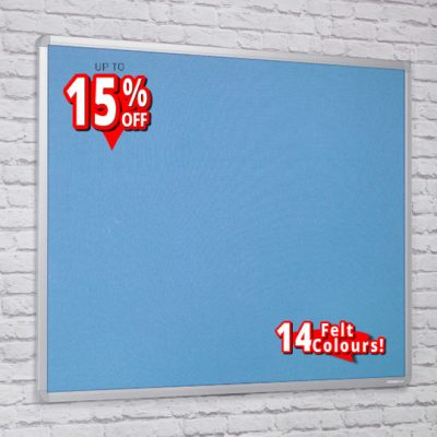 aluminium framed felt notice boards