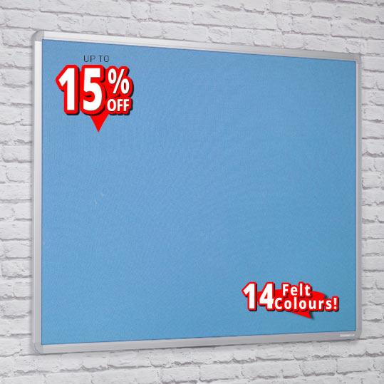 aluminium framed felt notice boards