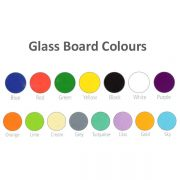 mobile glass whiteboard colour choices