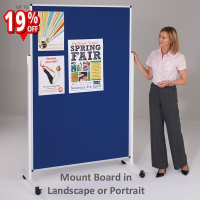 adjustable mobile notice board