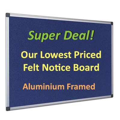 cheap felt notice boards with blue felt