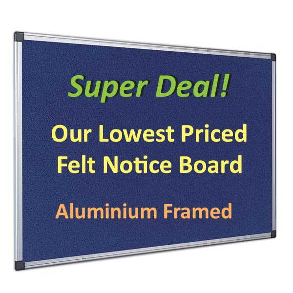 cheapest blue felt notice boards