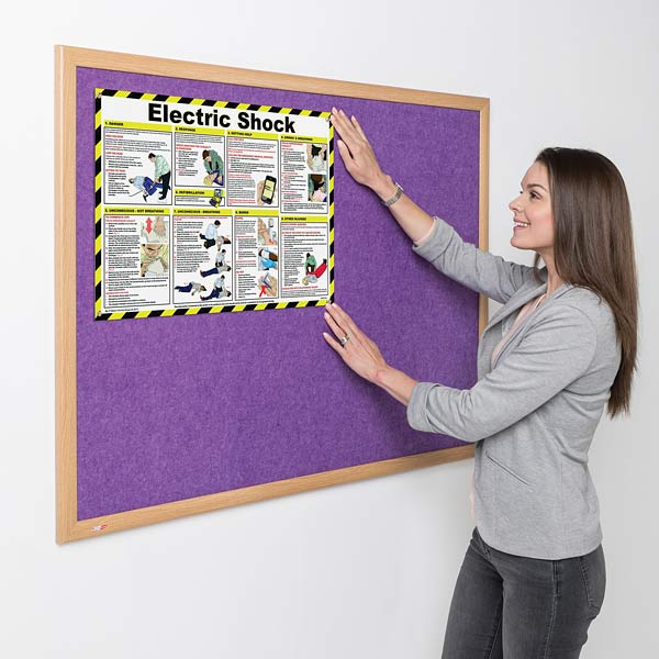 wood framed eco friendly notice boards