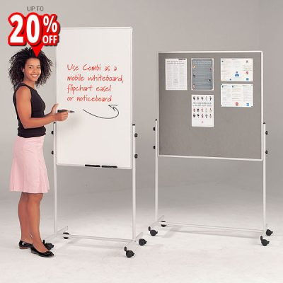 mobile combination pin board magnetic whiteboard