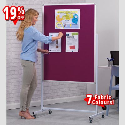 mobile felt notice board