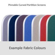 curved partition office screen example colours