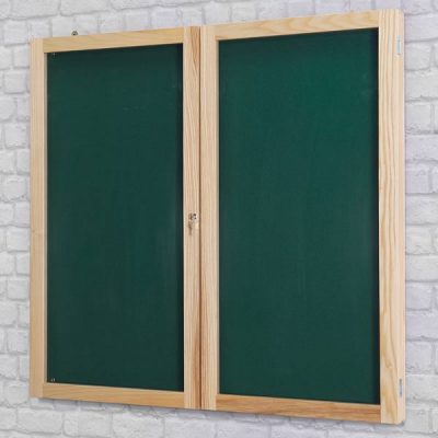 beech wood framed tamperproof notice board