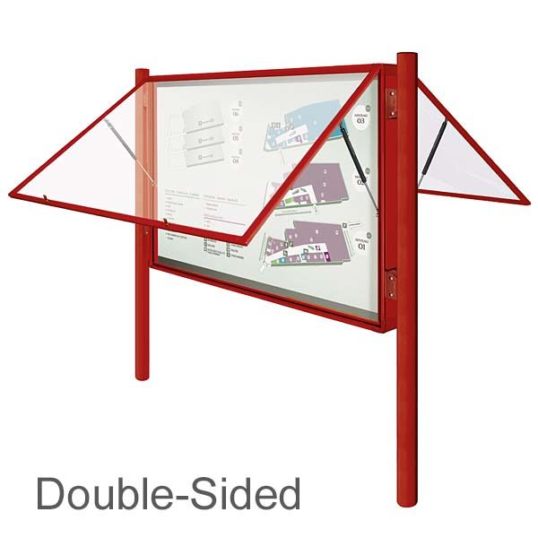 double sided external notice board
