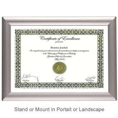 a4 certificate frame in anodised aluminium