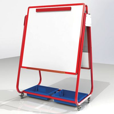 Junior Double-Sided Mobile Whiteboard Storage Easel