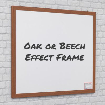oak or beech effect wood framed whiteboards