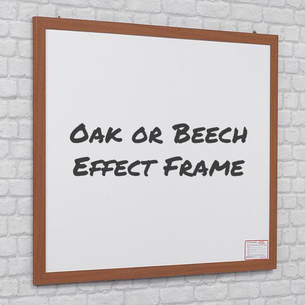 oak or beech wood effect whiteboard