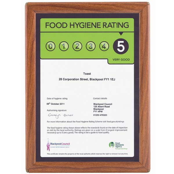 A4 Certificate Frame In Wood Effect Wall Mount Or