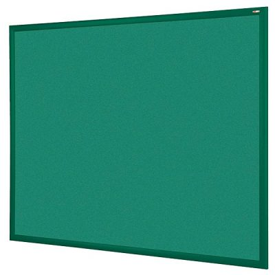 green wood frame notice boards with matching green felt